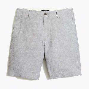 "J CREW 9"" GRAMERCY LINEN-COTTON SHORTS-Size 36"